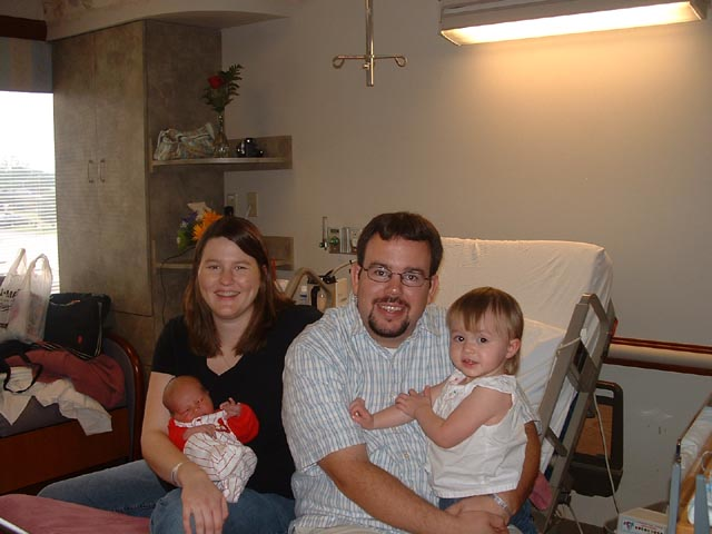 Cerneka family at the birth of Noah, August 29, 2006