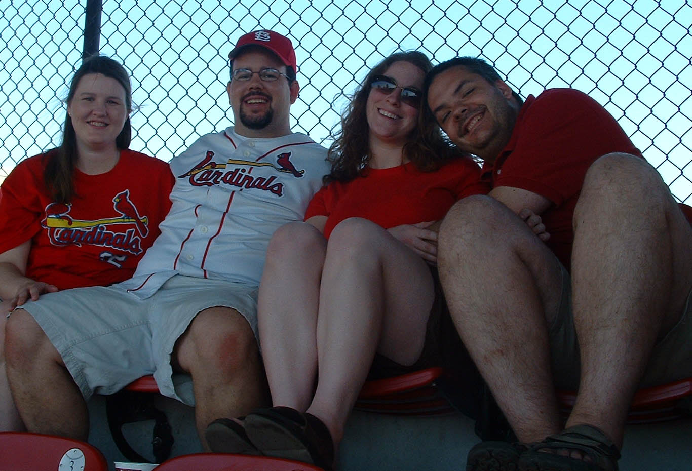 Oddwalk and wives at a 2006 Cards game