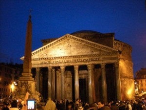 The Pantheon, getting on towards evening