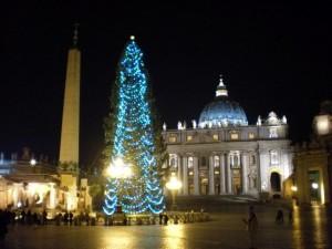 The Vatican, a Christmas Season Evening