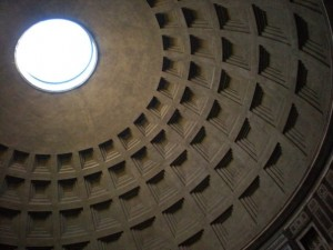The usual shot of the Pantheon ceiling