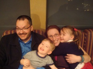 Orin, Erin, Noah and Madeleine, Christmas 2008