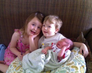 Madeleine, Noah, and Aiden Cerneka, May, 2009