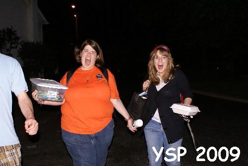 Oddwalk friend, Marianne Cline, get's into the YSP spirit.